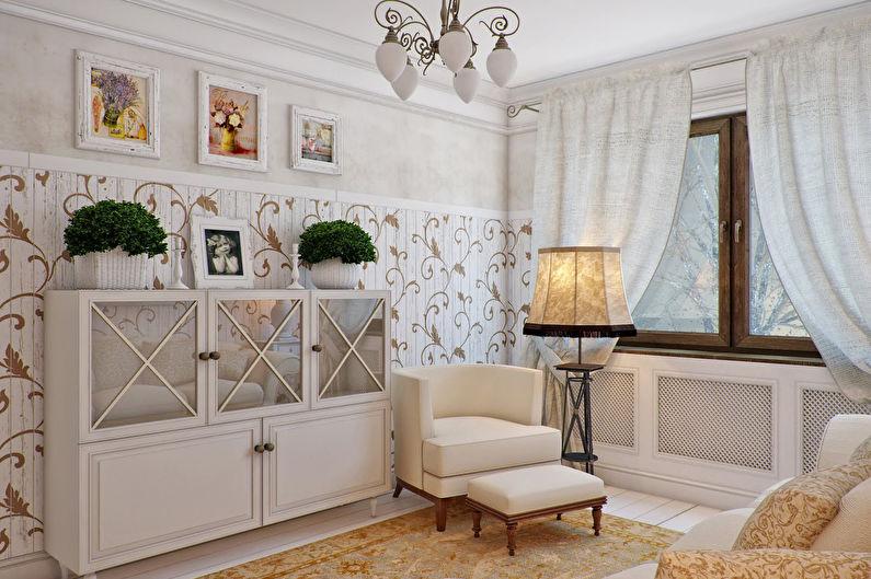 Гостиная 15 кв.м. в стиле прованс - Дизайн интерьера
