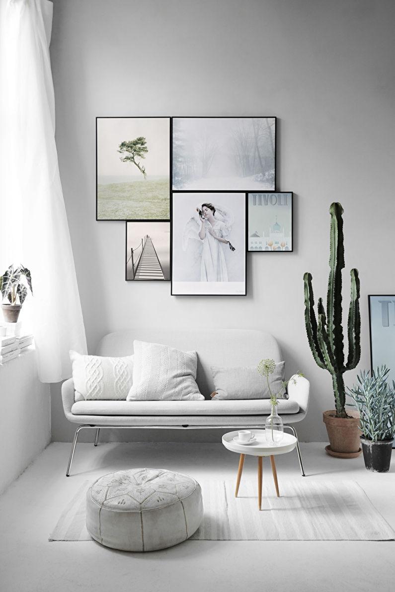 Гостиная 15 кв.м. в стиле минимализм - Дизайн интерьера
