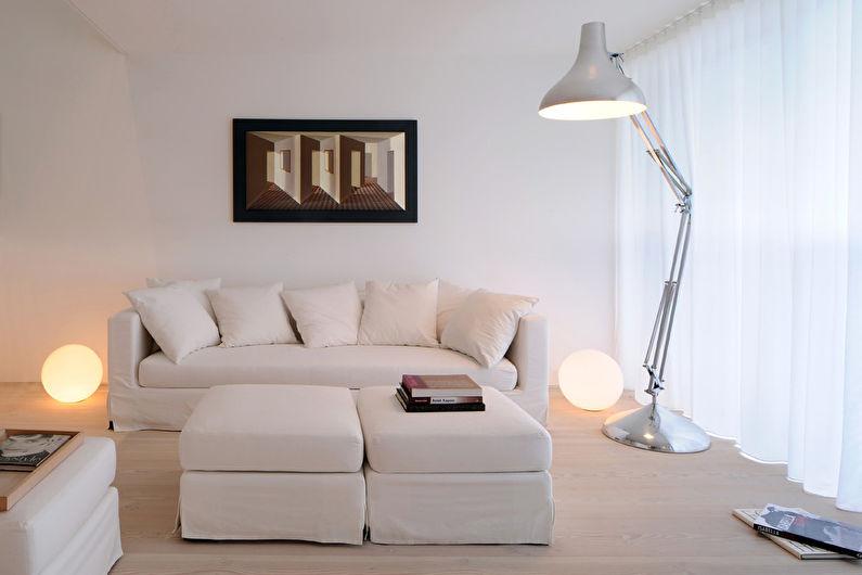 Дизайн гостиной 15 кв.м. - Светлые тона