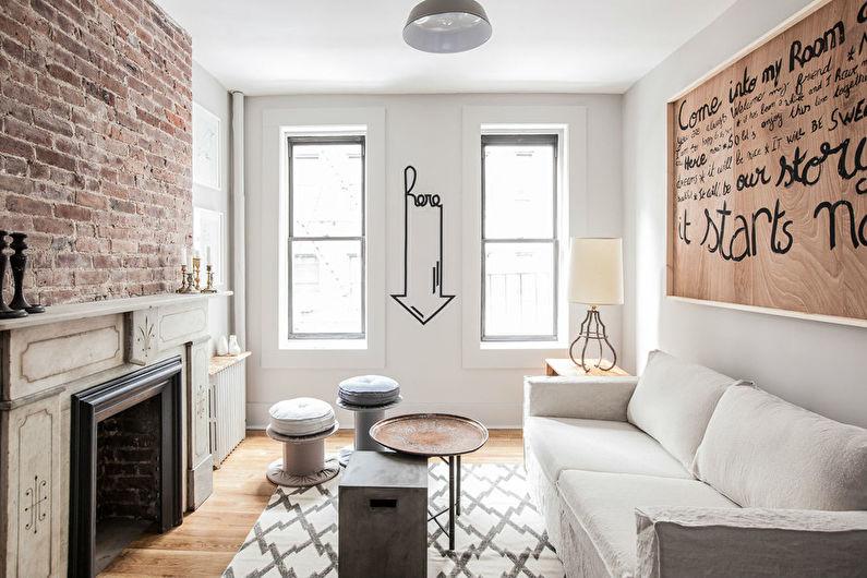 Дизайн гостиной 15 кв.м. - Отделка потолка