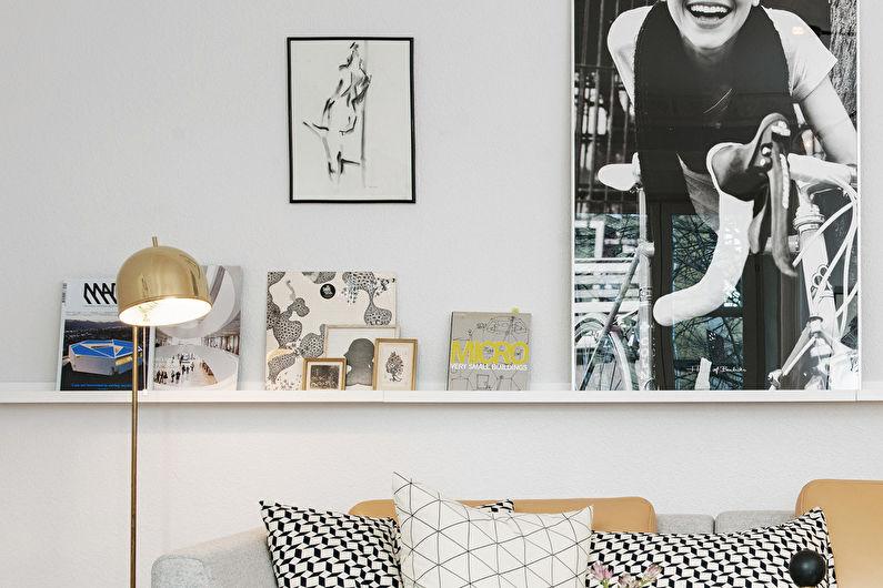 Дизайн гостиной 15 кв.м. - Декор и освещение
