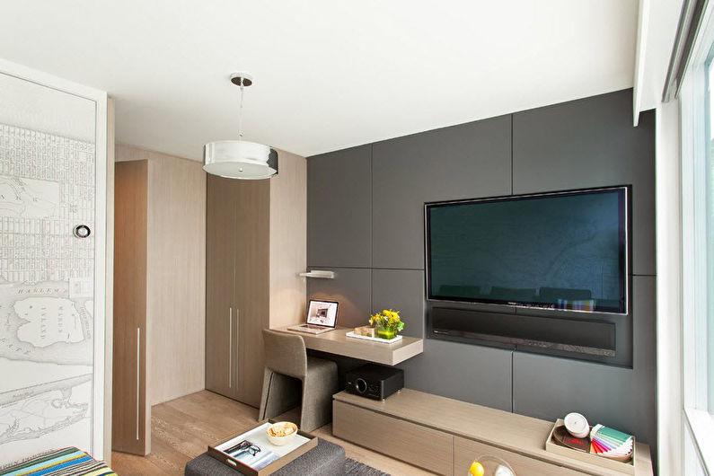 Дизайн интерьера гостиной 15 кв.м. - фото