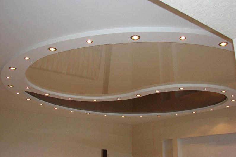 Натяжной потолок в прихожей - Освещение и подсветка