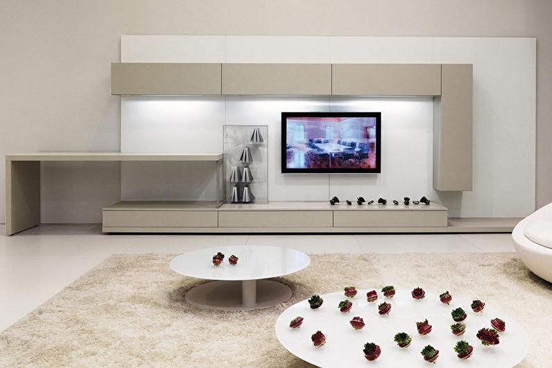 Стена с телевизором - Как подобрать и установить
