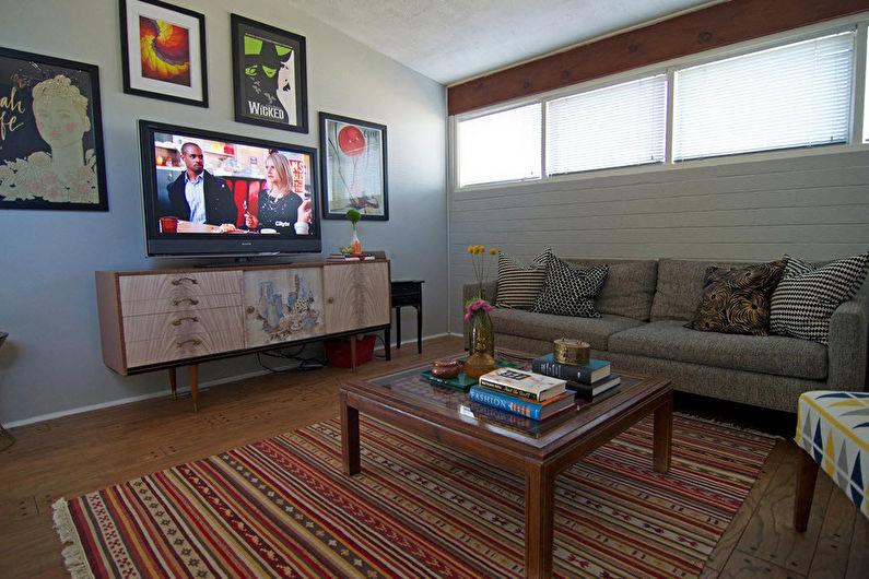 Стена с телевизором - Отделка и декор