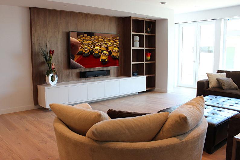 Стена с телевизором - Панели и перегородки