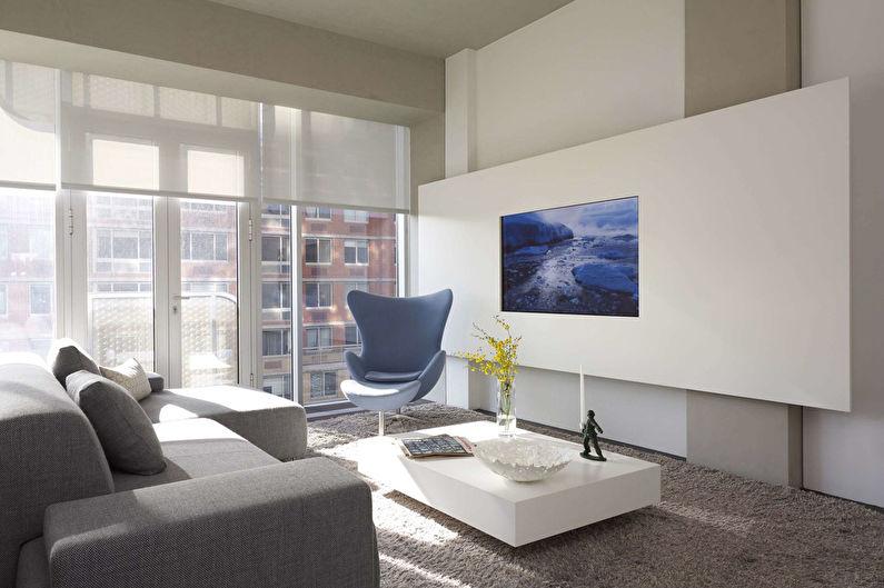 Стена с телевизором - Гипсокартонная конструкция