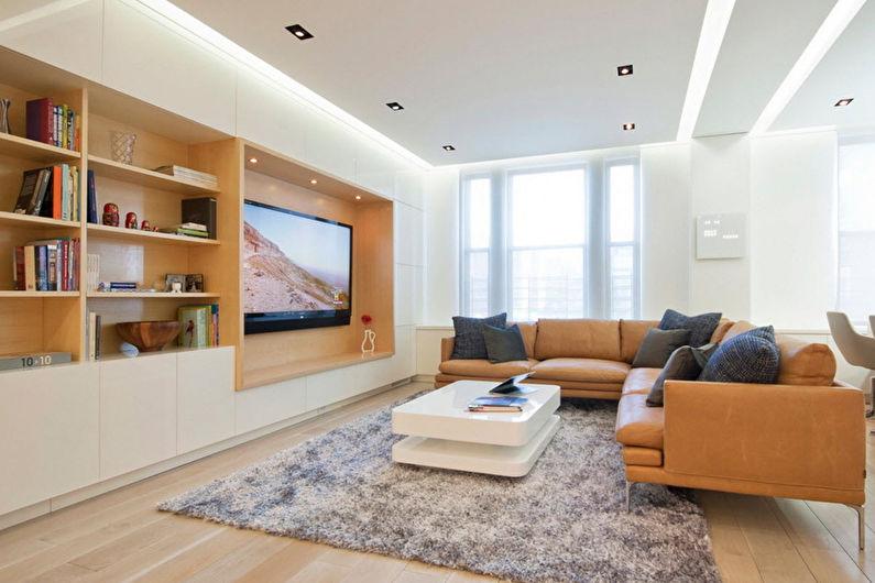 Стена с телевизором - Телевизор в нише