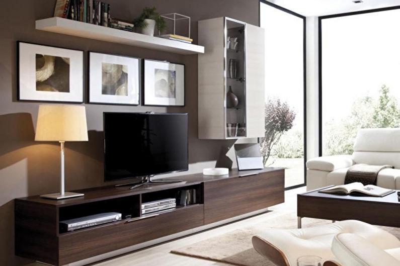 Стена с телевизором - Телевизор и тумба