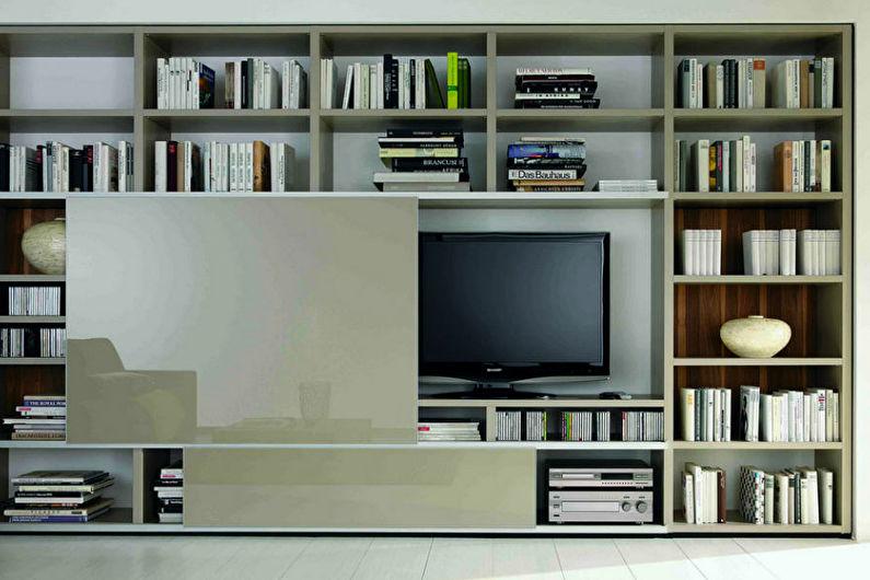 Стена с телевизором - Как спрятать телевизор
