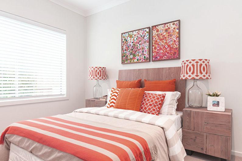 Персиковый и белый - Сочетание цветов в интерьере