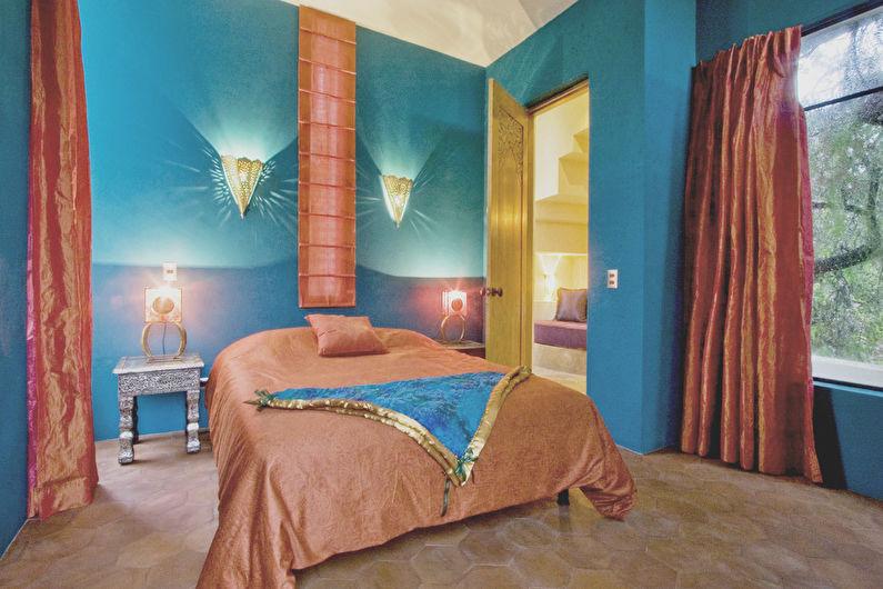 Персиковый и синий - Сочетание цветов в интерьере