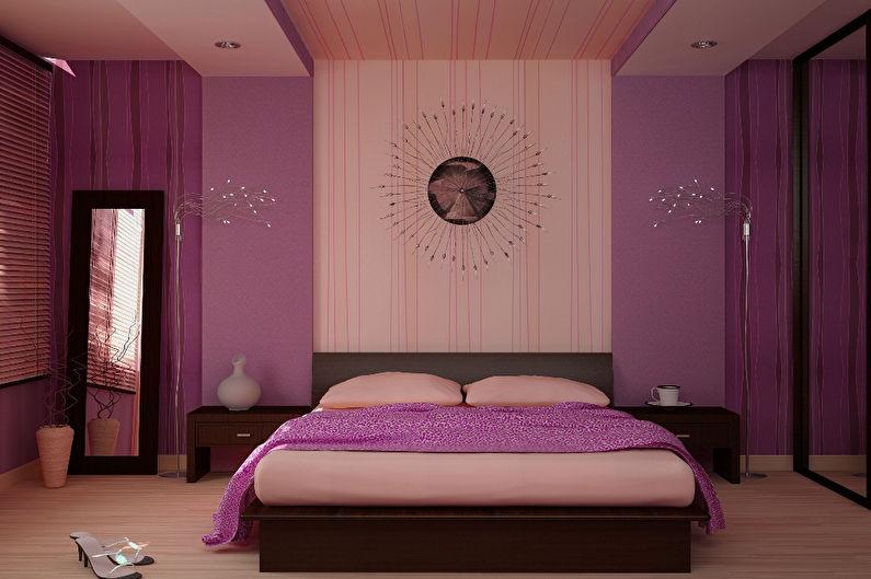 Персиковый и фиолетовый - Сочетание цветов в интерьере