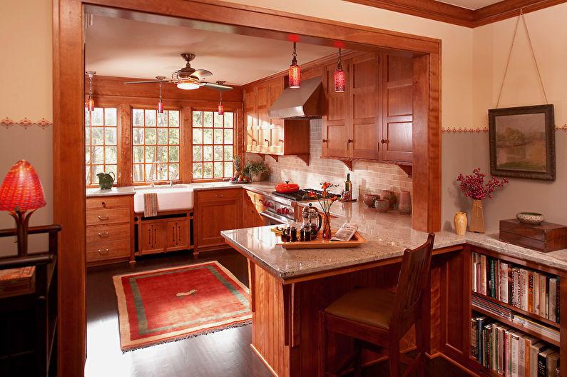 Персиковый цвет на кухне - Дизайн интерьера
