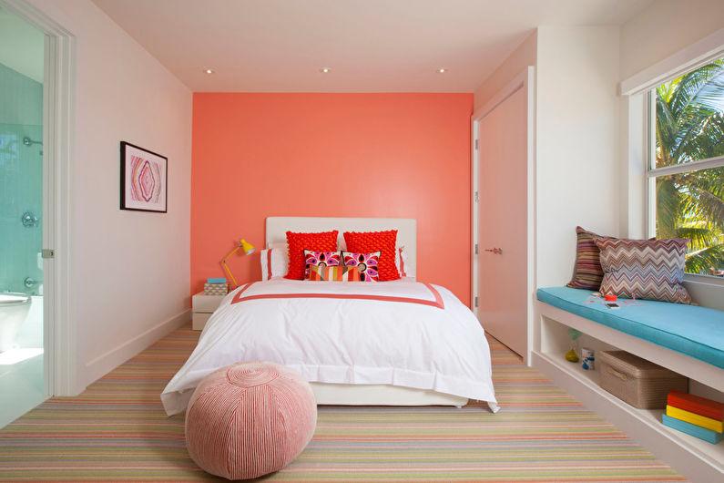 Комната в персиковых тонах покраска фото