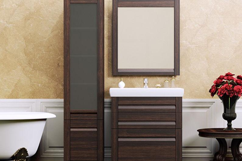 Цвет венге в ванной комнате - Дизайн интерьера