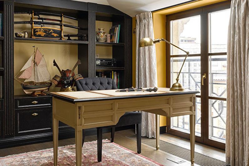 Цвет венге в домашнем кабинете - Дизайн интерьера