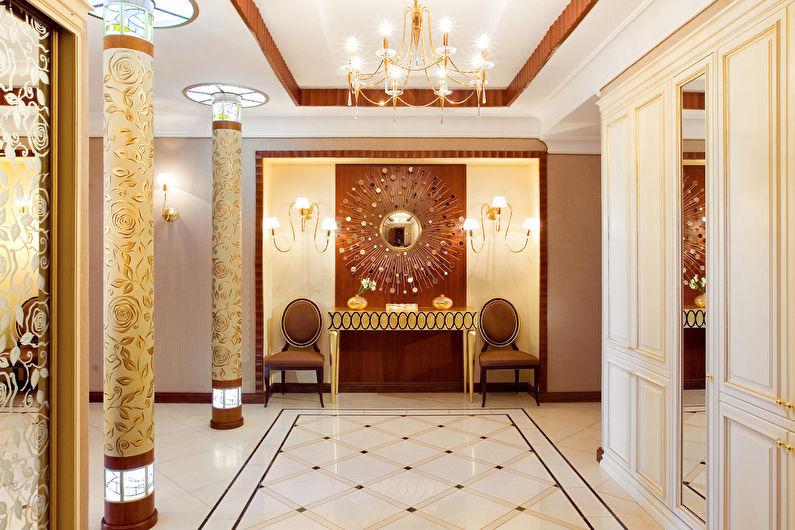 Напольная плитка для прихожей в классическом стиле