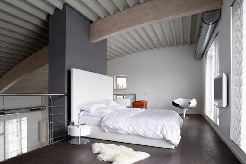 Дизайн спальни в стиле минимализм - Отделка пола