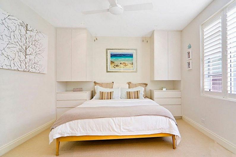 Маленькая спальня в стиле минимализм - Дизайн интерьера