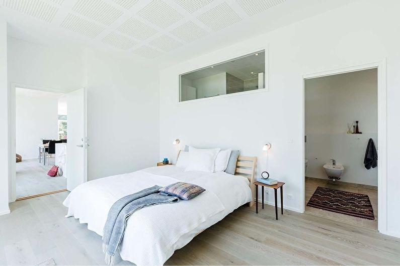 Дизайн интерьера спальни в стиле минимализм - фото