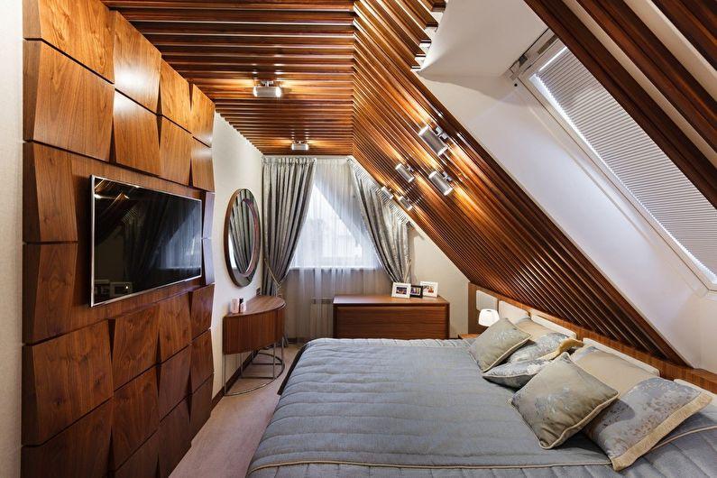 Дизайн узкой спальни - Особенности