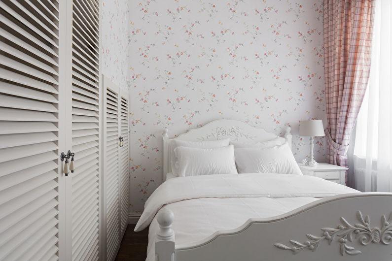Дизайн узкой спальни - Отделка стен