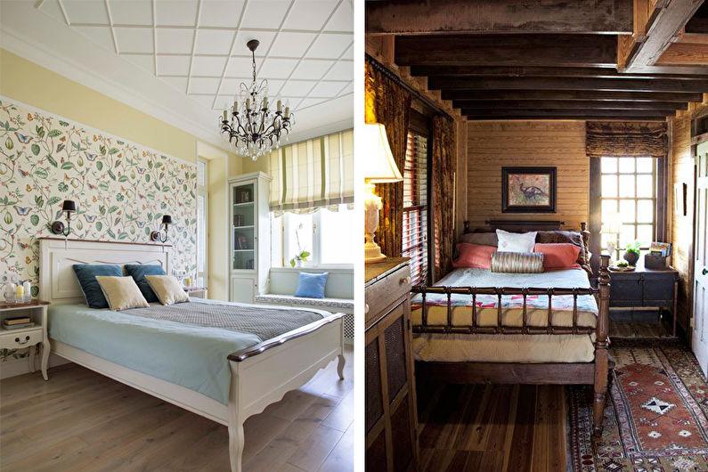 Дизайн узкой спальни - Декор и освещение