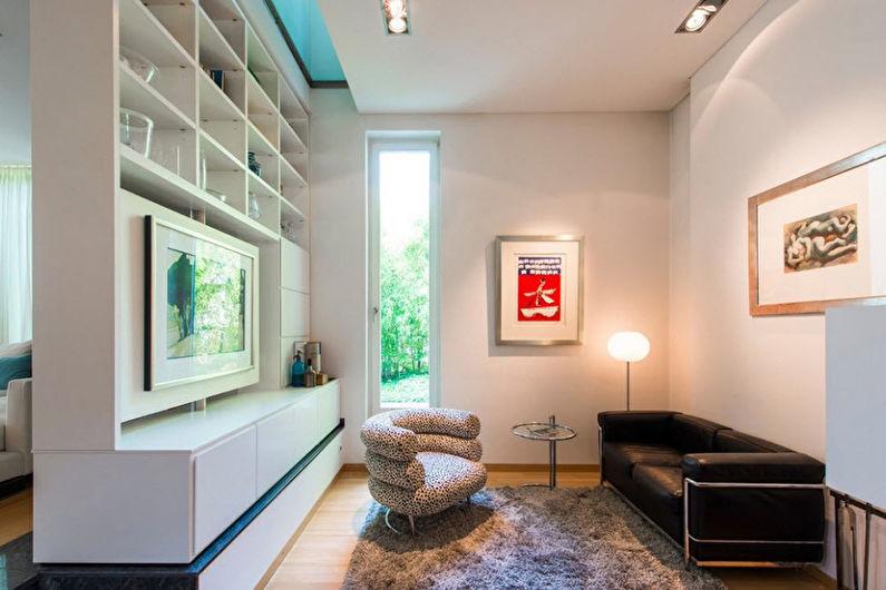 Гостиная 17 кв.м. в современном стиле - Дизайн интерьера