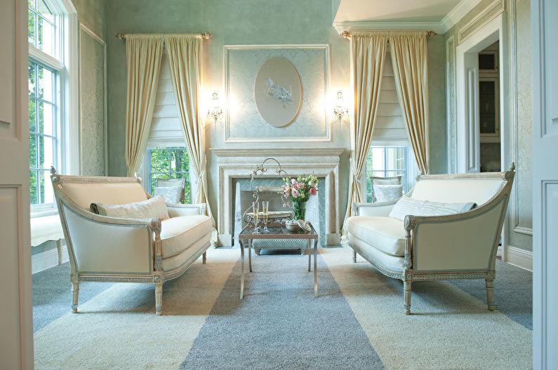Гостиная 17 кв.м. в классическом стиле - Дизайн интерьера
