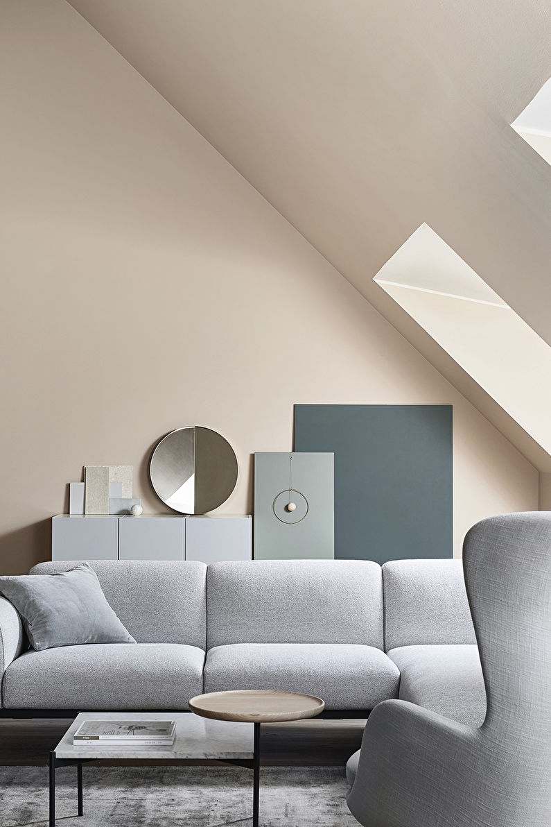 Гостиная 17 кв.м. в стиле минимализм - Дизайн интерьера
