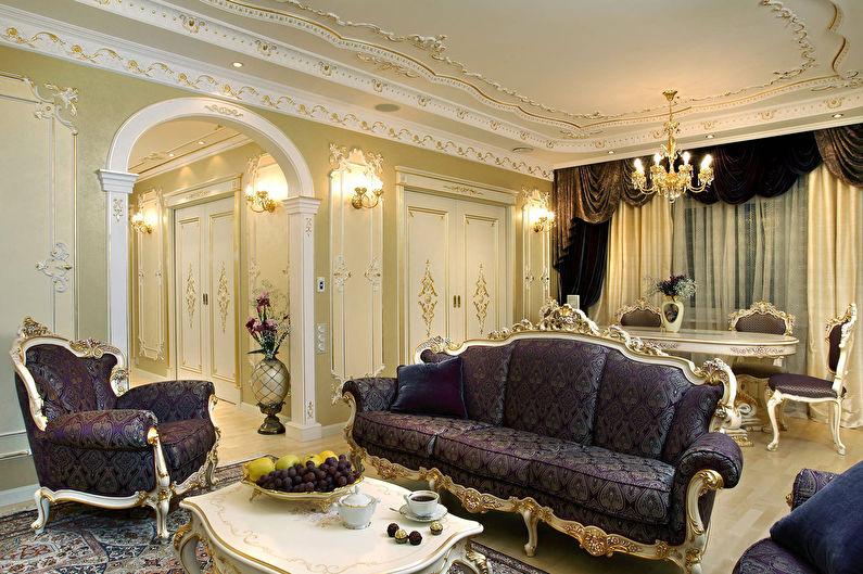 Гостиная 17 кв.м. в стиле барокко - Дизайн интерьера