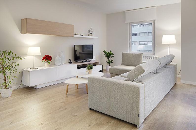Дизайн гостиной 17 кв.м. - Отделка пола