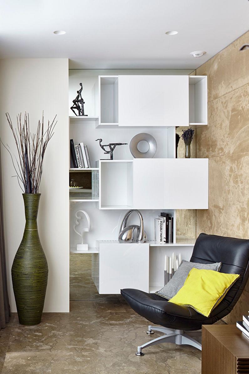 Дизайн гостиной 17 кв.м. - Отделка потолка