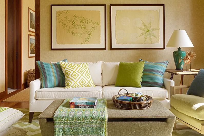 Дизайн гостиной 17 кв.м. - Декор