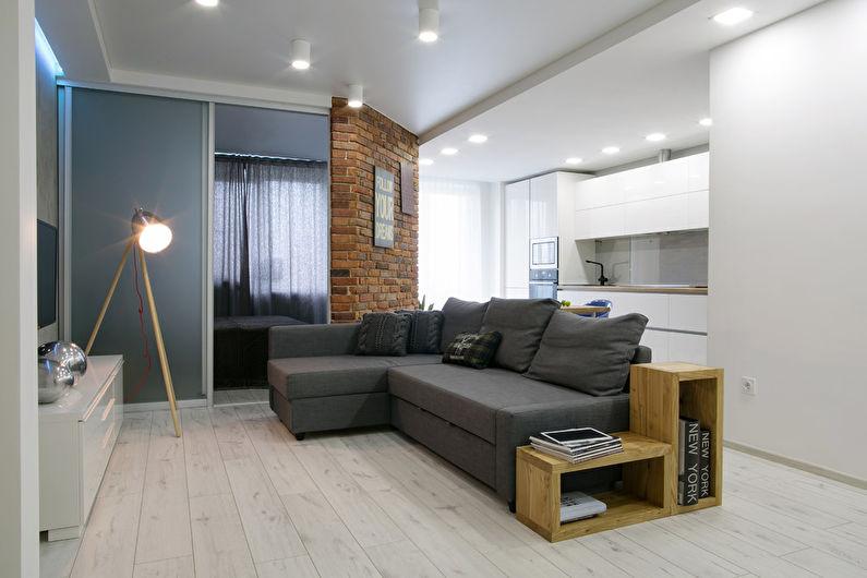 Дизайн гостиной 17 кв.м. - Освещение