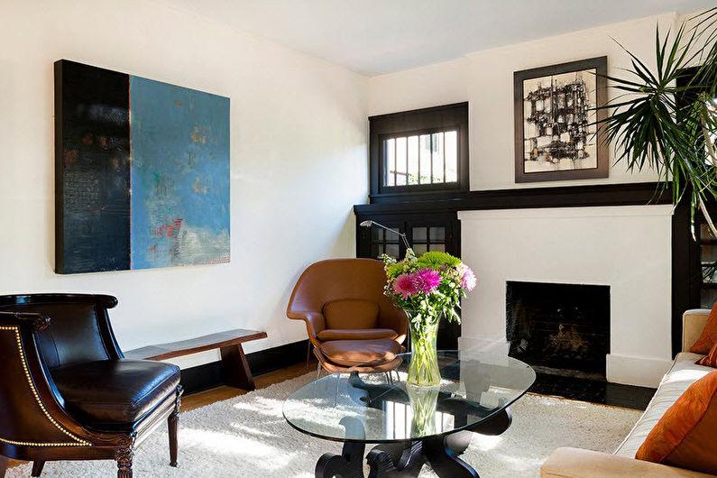 Дизайн интерьера гостиной 17 кв.м. - фото