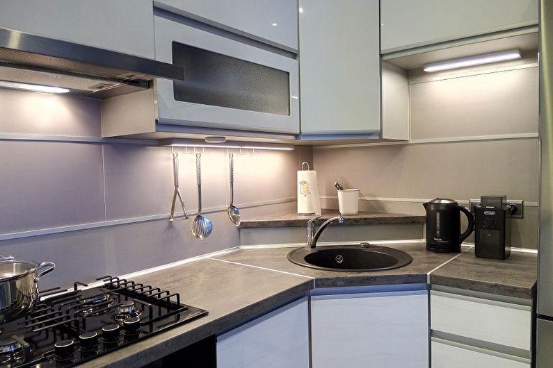угловые кухни с раковиной в углу фото смоленске нее