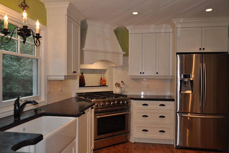 Дизайн угловой кухни - Кухня с угловой плитой
