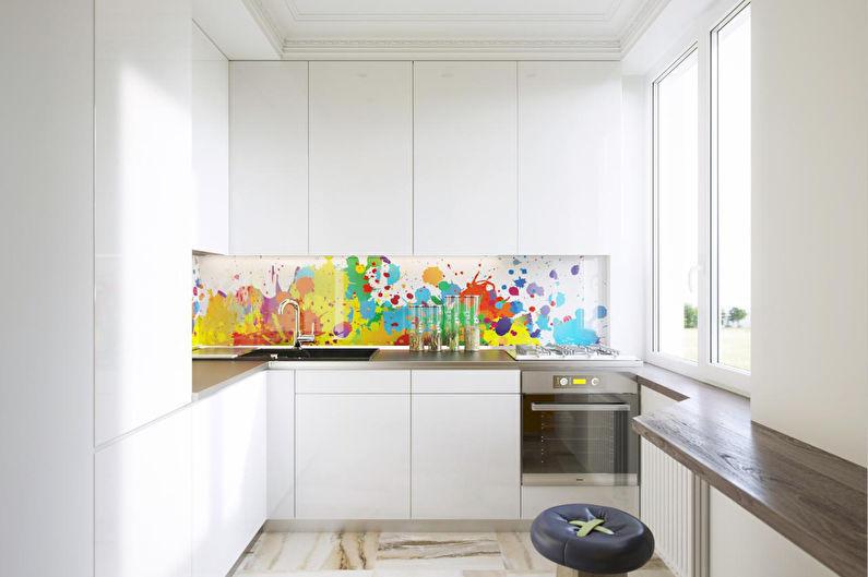 Угловая кухня с барной стойкой - Дизайн интерьера