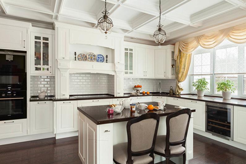 Угловая кухня с островом или полуостровом - Дизайн интерьера