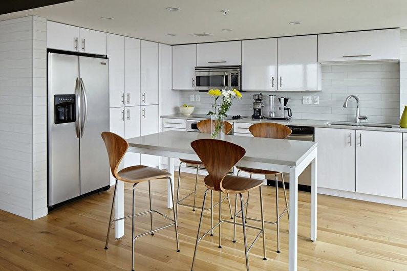 Угловая кухня с обеденным столом - Дизайн интерьера
