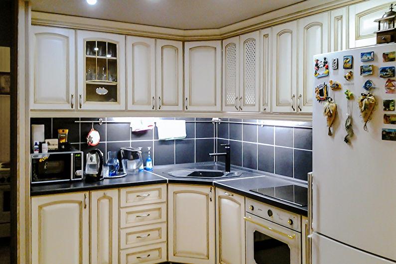 Угловая кухня в классическом стиле - Дизайн интерьера