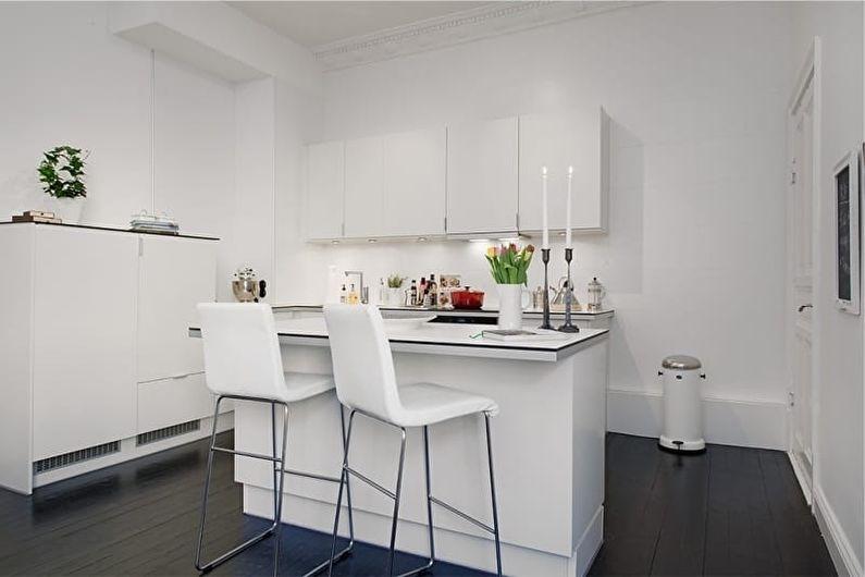 Угловая кухня в стиле минимализм - Дизайн интерьера