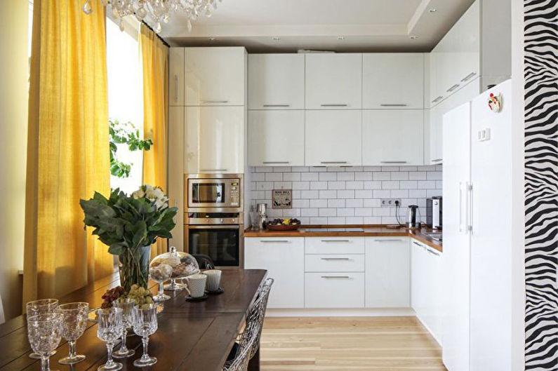 Угловая кухня в скандинавском стиле - Дизайн интерьера