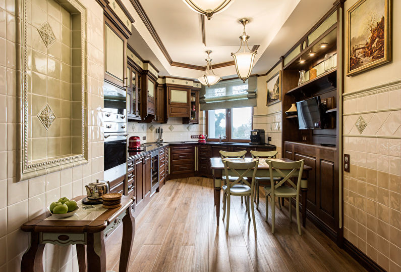 Угловые кухни - Дизайн интерьера фото