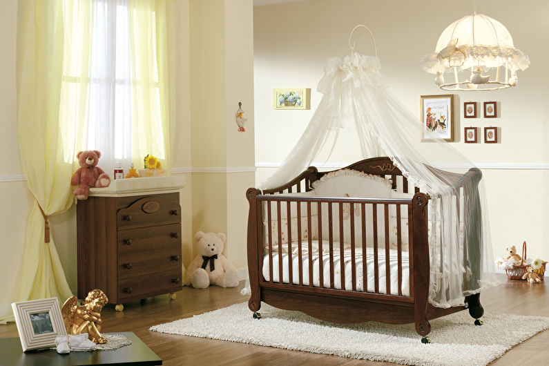 Балдахин на детскую кроватку (60 фото)