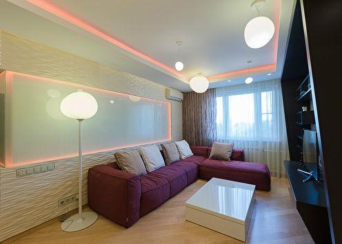 «Цветные линии»: Квартира в современном стиле