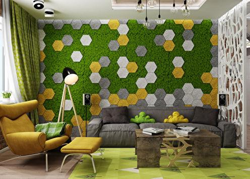 Интерьер квартиры «Живая геометрия»