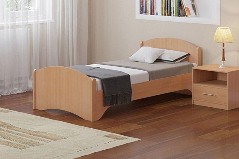 Виды односпальных кроватей - В зависимости от материалов